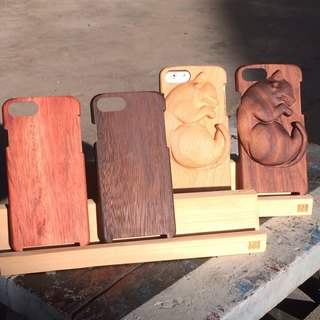 Iphone7/ Iphone7PLUS wood wooden phone case -3D plain basic