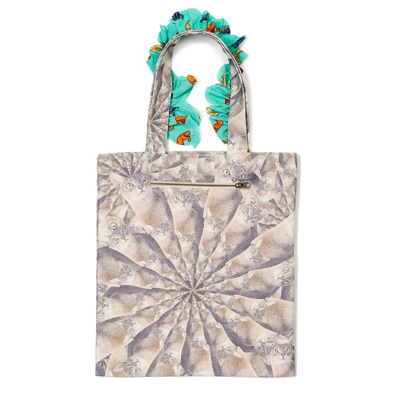 Parade of Faces Frilly Tote