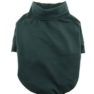 Dark Green Ponte di Roma Turtleneck Raglan Tee, Dog Top, Dog Apparel