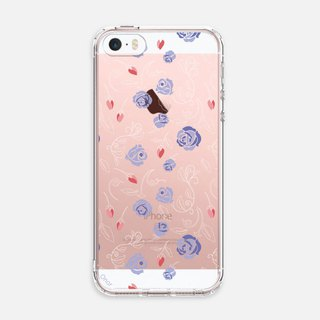 SMALL FLORAL【TRANQUIL BLUE】CRYSTALS PHONE CASE i5 iPhone se i6 iPhone 7 Plus