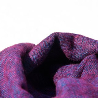 Wool shawl/knit scarf/knit shawl/covering/pure wool scarf/wool shawl-violet