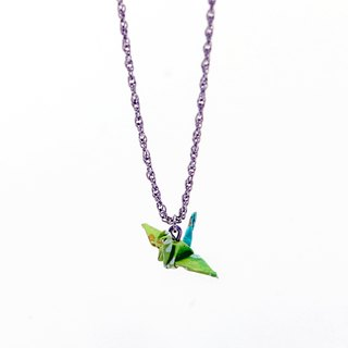 Mini cranes Necklace (Green Lake) - Valentine's Day gift