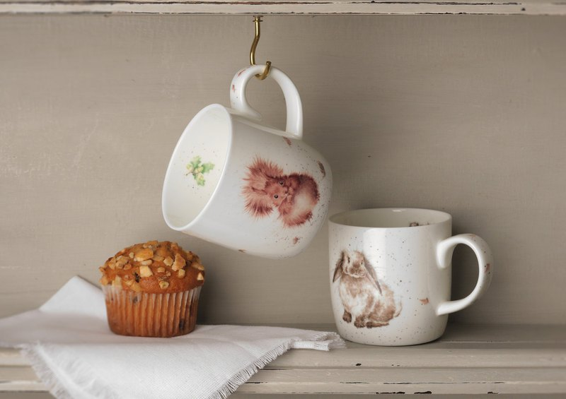 Royal Worcester Wrendale Designs Single Treetop redhead Fine Bone China Mug