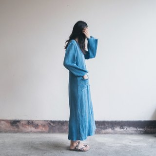 Unwind Dress | INDIGO dyed soft cotton |