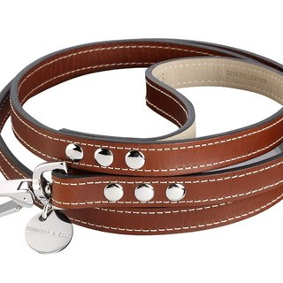 H & S Hennessy & Sons - ROYAL Classic Leather leash (classic brown)