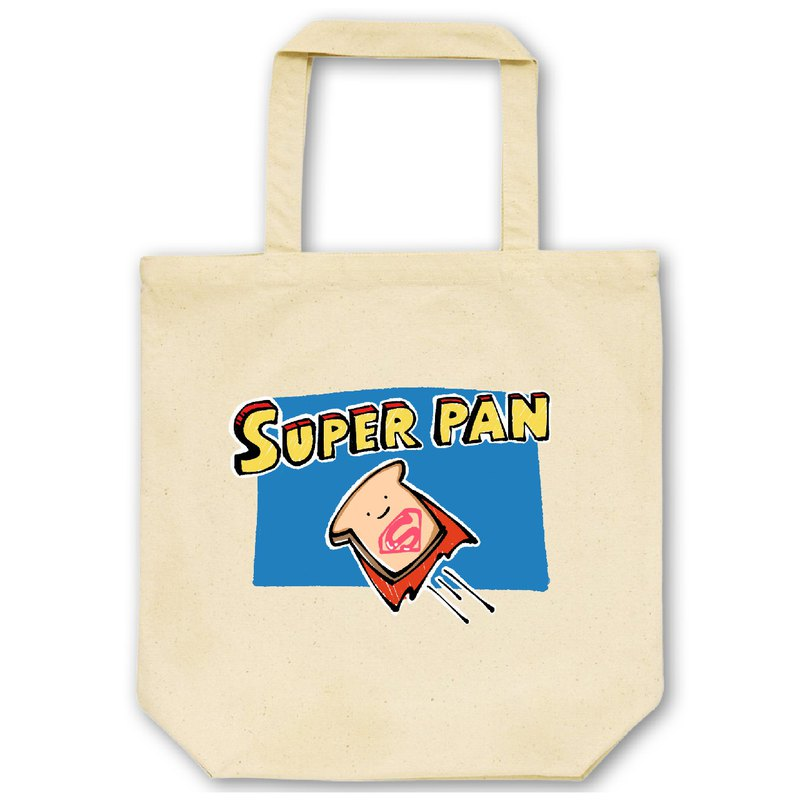 Super Bread [Natural] ekot Tote Bag 14oz Illustration-Manager Sato Kazuma