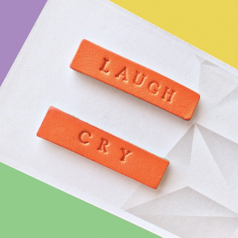 Sonniewing's Opposite Words Stud Leather Earrings