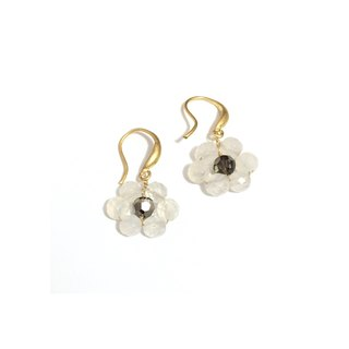 Exquisite white chalcedony earrings