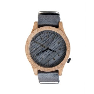Plantwear – HERITAGE SERIES – GREY EDITION - OAK WOOD TIMBER WRIST WATCH
