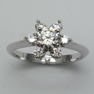 [Hongsheng Jewelery] A117 Sterling Silver 925 Women's Ring. Valentine's Day. Birthday. Couples Gift. Engagement Ring. Clothes Wild. Gui Honey Gift.