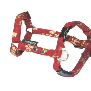 [AnnaNina] pet chest strap dog H-type chest straps love cherry red
