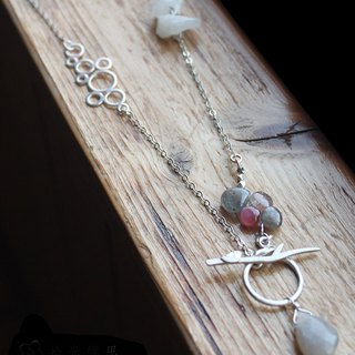 [OOAK | Multicolor corundum silver necklaces]