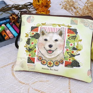 <Animals in the secret land> Happiness Shiba Inu Dog in summer (big size)