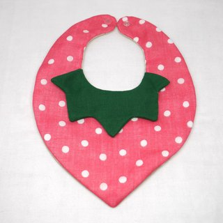 Japanese Handmade 8-layer- gauze Baby Bib/ strawberry bib