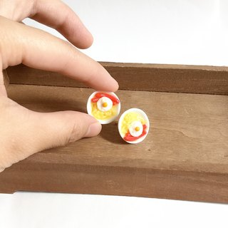 Japanese resin clay Hong Kong body temperature earrings human taste cure series