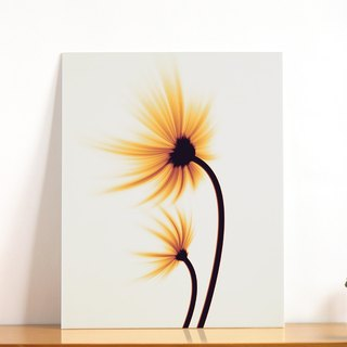 """Flower"" audio decoration painting - birthday Christmas gifts - 11x14 inch art micro spray"
