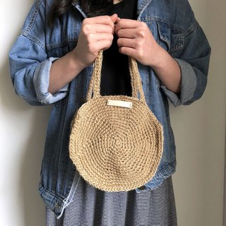 Crochet _ Round Tote Bag