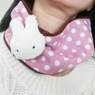 Lovely [small rabbit pin little brush hair neck scarf] coffee powder purple, winter goods E