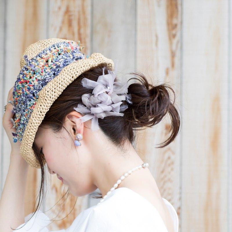 mini || 辦公室風格 || 花漾編織髮夾