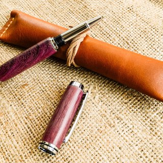 Purple heart wood manual ball pen │ gifts, personal use │ DIY