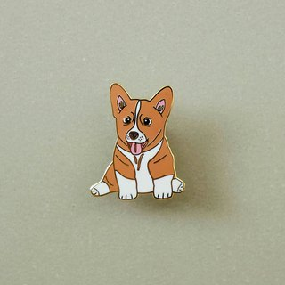 Corgi Enamel Pin, Badge, Brooch, Pin, Accessories