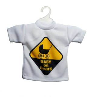 Hang em Mini car signs(baby on board in Yellow)