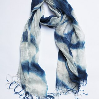 fete spring and summer linen scarves hand-dyed scarves Aizen