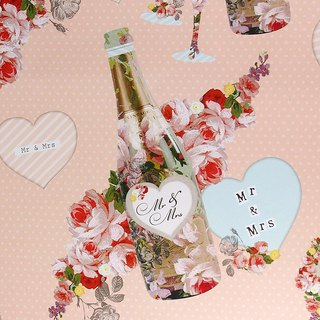 Romantic Wine & Rose Wrapper [Hallmark-Wrapping Paper]