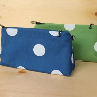 Little / Cosmetic bag / Universal bag / pouch / First dyed / Japanese canvas