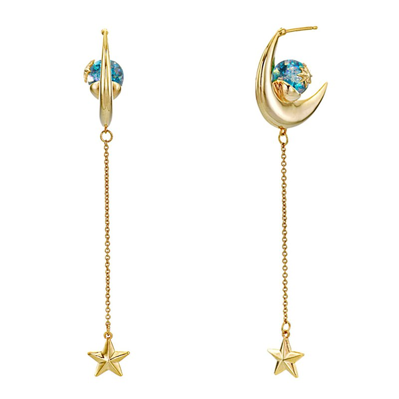New Moon Snoeball Earrings (sailor mercury)