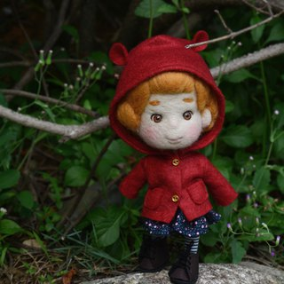 Needle Felt Red hood doll