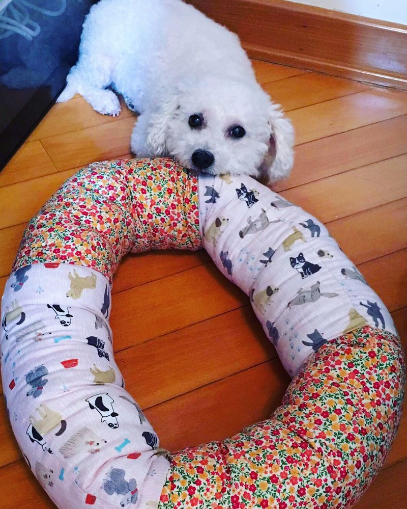 Donut puppy bed pet bed sugar winter dump M SIZE