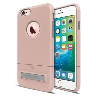 Fashionable Two-tone Cover / Case for iPhone 6 (s) / 6 (s) Plus - Rose Gold (Gold Gray) -SURFACE ™ Collection