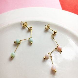 Can change the folder type - hanging earrings - a little star Lianliankan