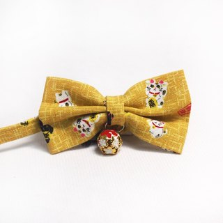 Japanese lucky cat cat mini dog small dog bow decorative collar
