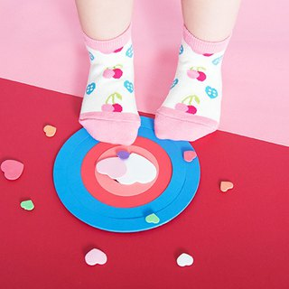 Cherry heart slip 1/2 child socks