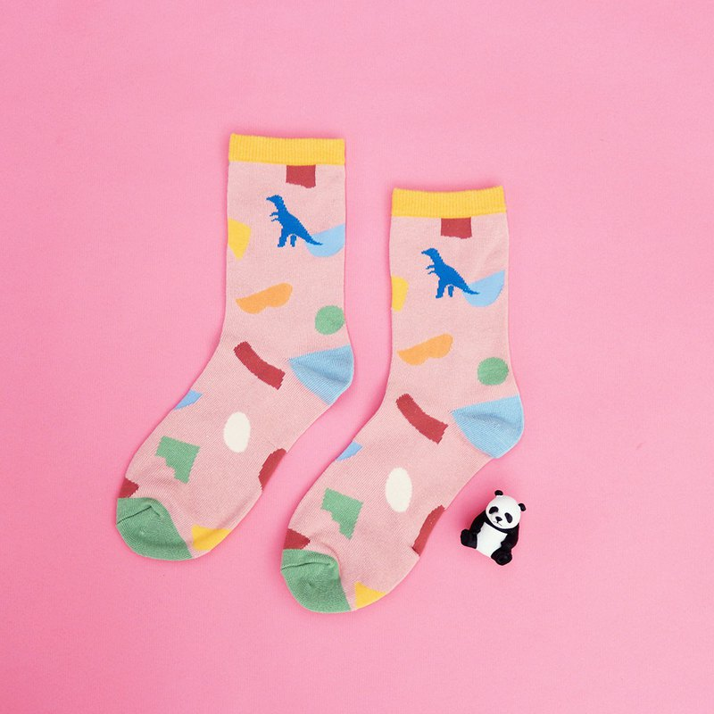 01 geometric dinosaur / socks