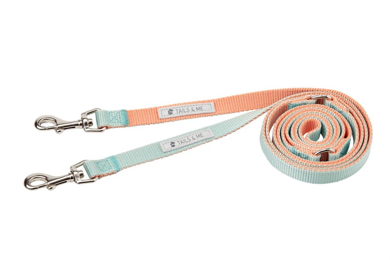 [Tail and me] multi-function two-color standard pull rope pink orange / mint M