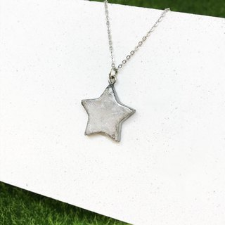 [Imitation Silver] - Five Star Necklace