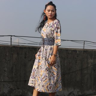Handmade improved cheongsam American VB cotton Chinese robes series retro original design dress