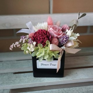 Not withered. Eternal flowers - square dry mixed withered table flowers*exchange gift*Valentine's Day*wedding*birthday gift * graduation