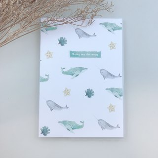 Whale notebook (180 flat open back binding version)