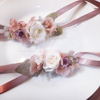 Simple and dry wrist flower - elegant / not withered flower / wrist flower / wedding / Korean / simple