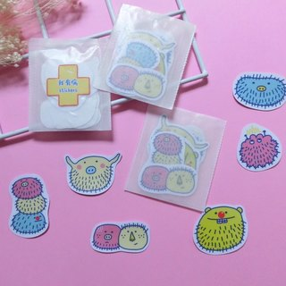 Long hair bacteria / stickers / medicine