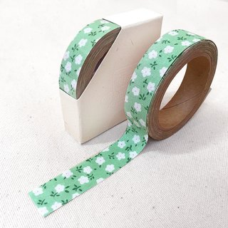 Cloth tape - spring floral [cotton candy green flowers]