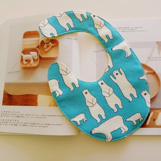 <Blue> polar bear beauty gift baby bib