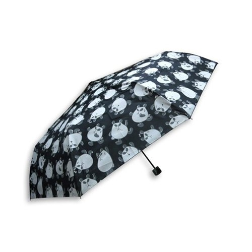 Chloe deaf cat / Montreal deaf cats folding umbrella / black