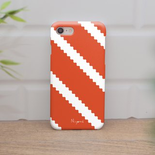 zigzag on orange iphone case สำหรับ iphone7 iphone 8, iphone 8 plus ,iphone x