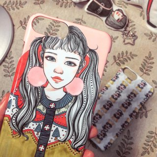 Qinky's Red Double Phone Case [customizable / composition creative gift / hand-painted / birthday gift / Valentine's Day gift]