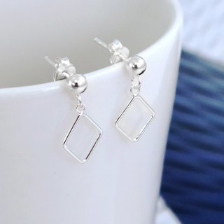 Earrings Fang Ling Draping Silver Earrings -64DESIGN